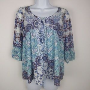 Live and Let Live by ONE WORLD Multi Print Top M